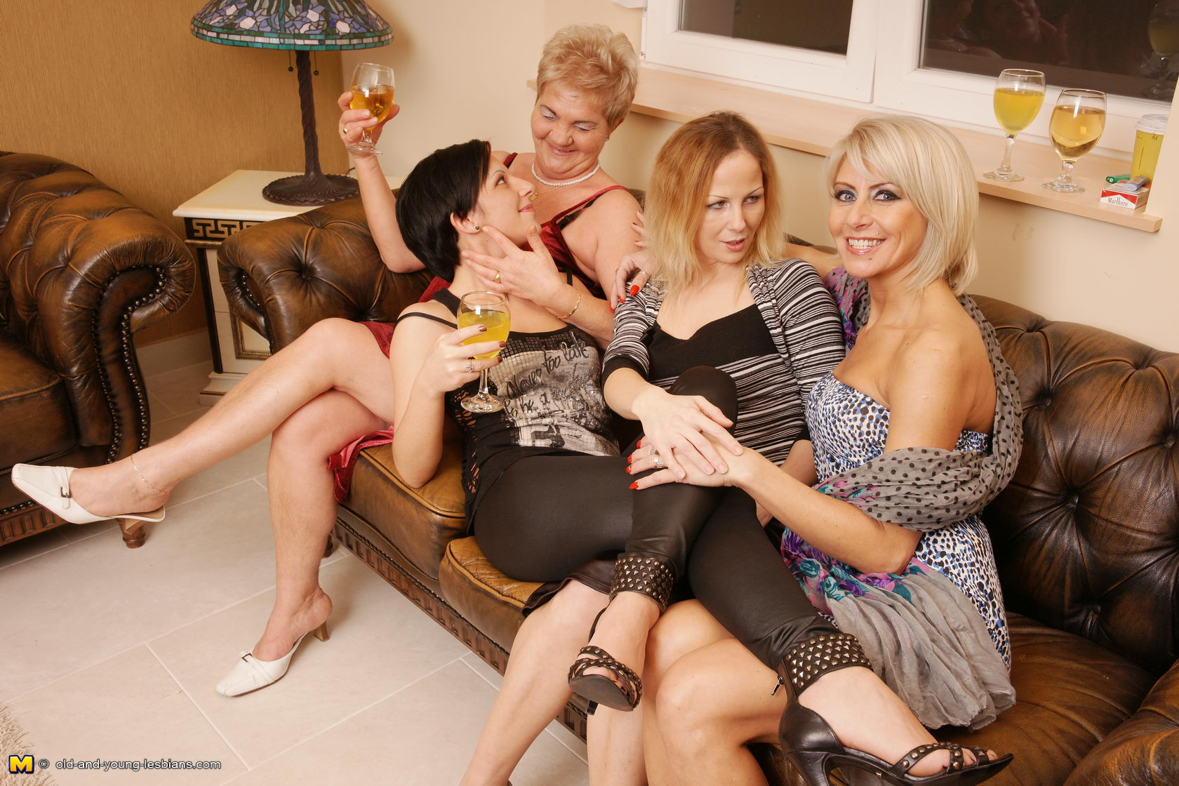 Oldandyoung Lesbian Porn four old and young lesbians have a sexparty   free download