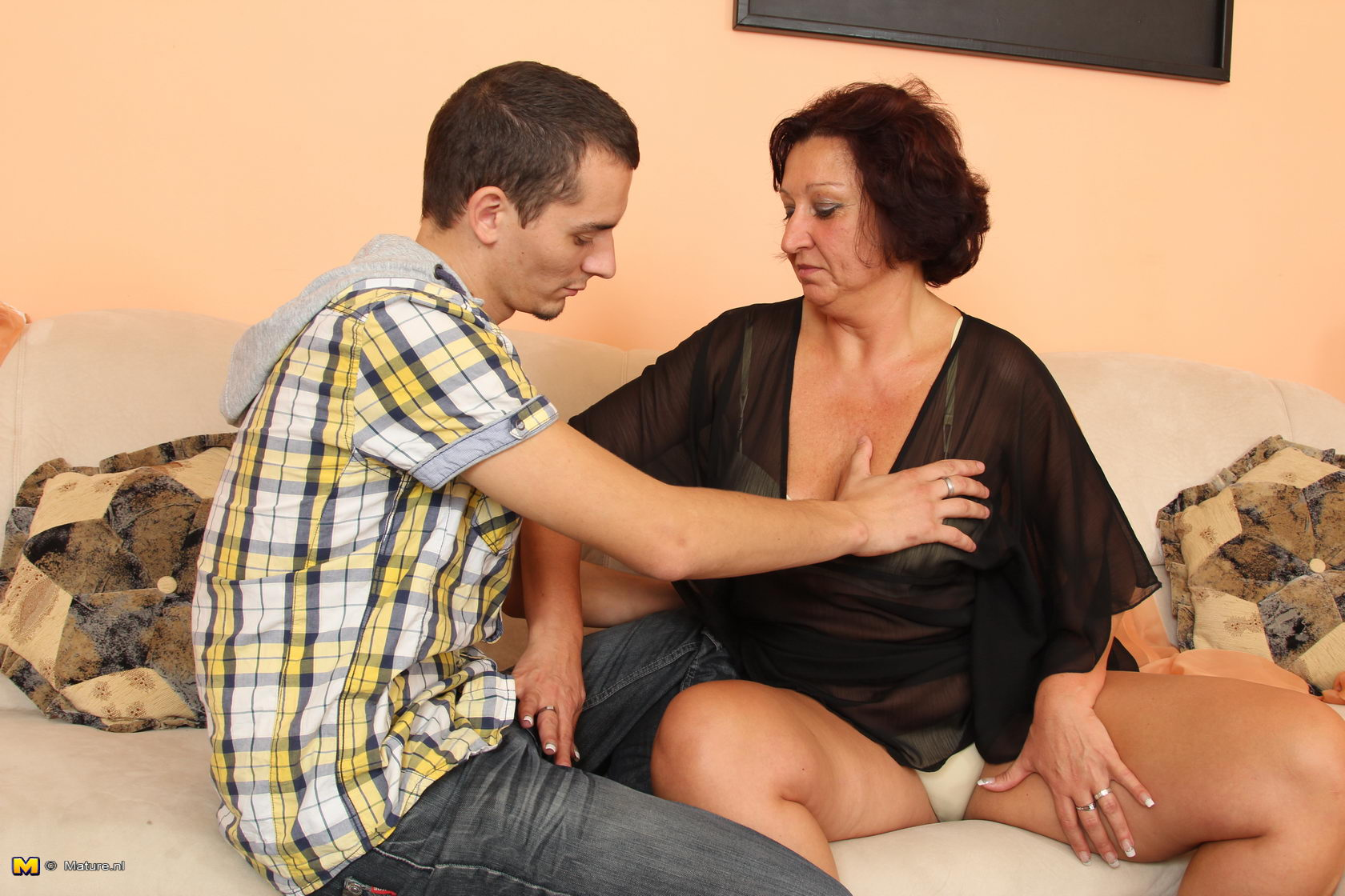 image Older german lady fucks a younger guy