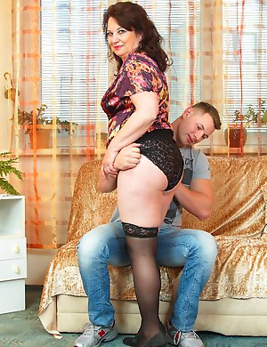 Horny housewife doing her younger boyfriend